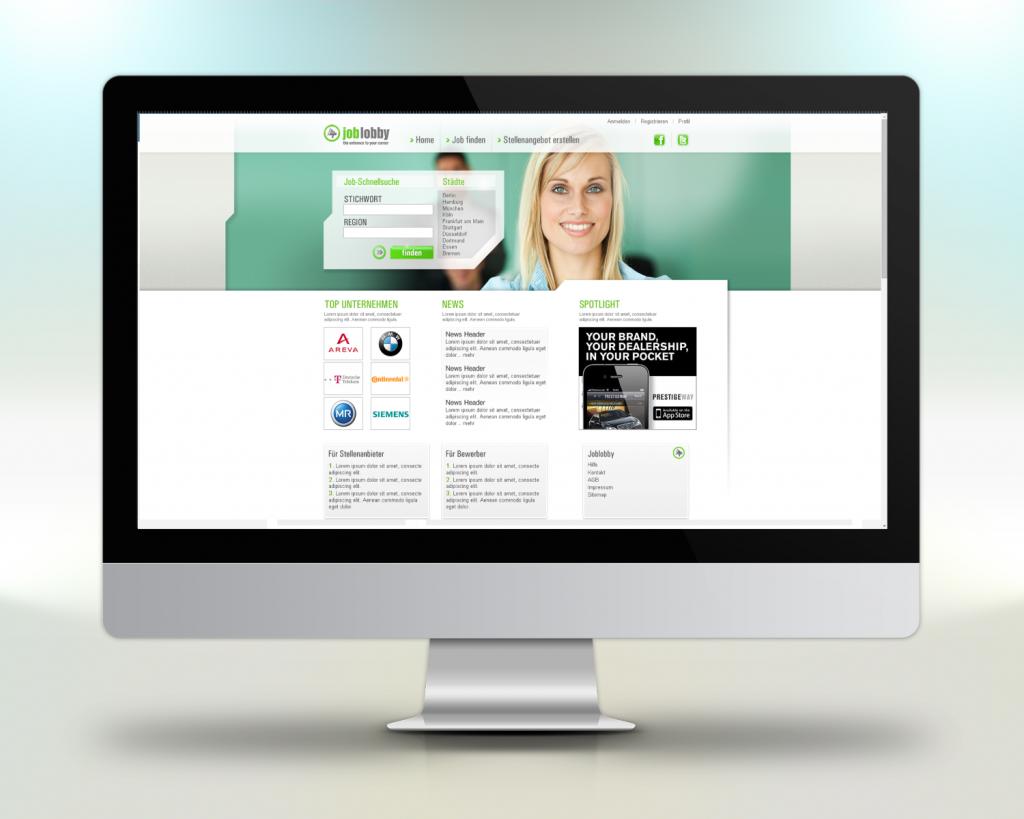Webportal Referenzen Joblobby