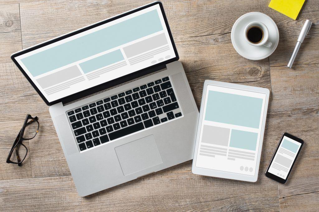 Bild Laptop, Tablet und Smartphone