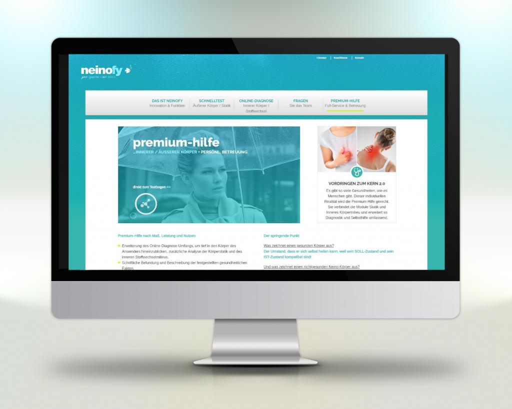 Beispiel Webportal Entwicklung Projekt neinofy